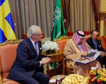 HM King of Sweden with HM King Salman of Saudi Arabia